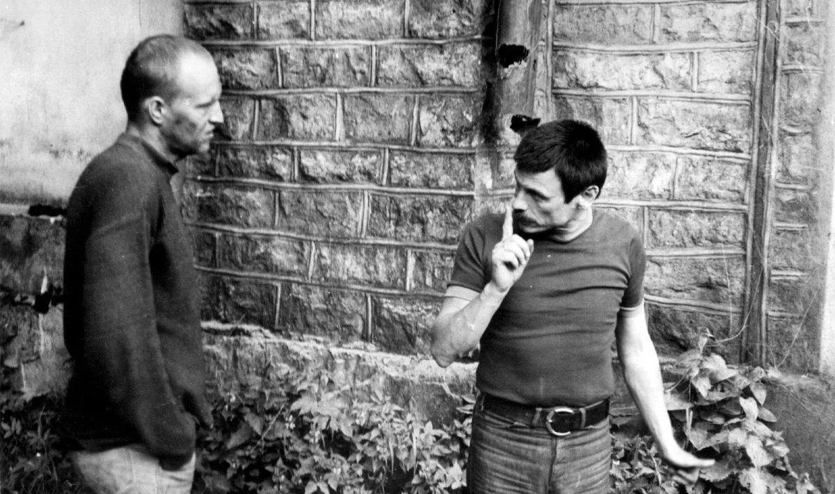 Андрей Тарковский и Александр Кайдановский на съемках «Сталкера» (1979)